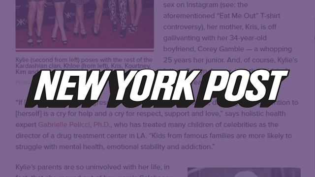 NY Post - Is Kylie Jenner destined for a breakdown worse than Amanda Bynes?