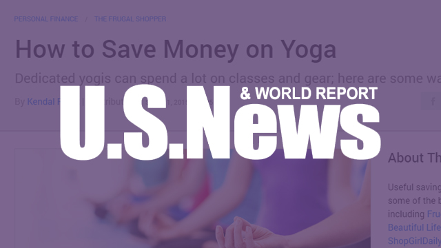 US News & World Report - How to Save Money on Yoga