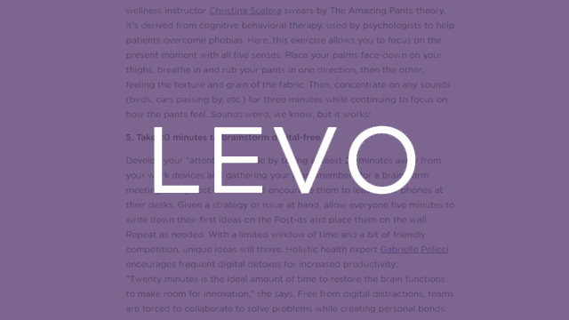Levo League - 5 Easy Mindfulness Exercises You Can Do at The Office