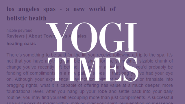 Yogi Times - A New World of Holistic Health